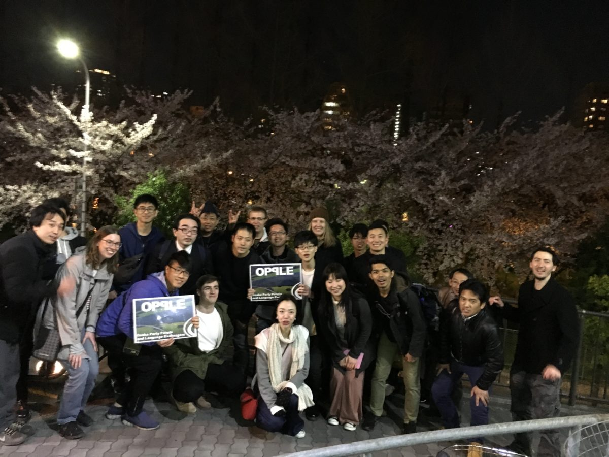 03/30/2018 Night Walk surrounded by Sakura, with a quiet drink